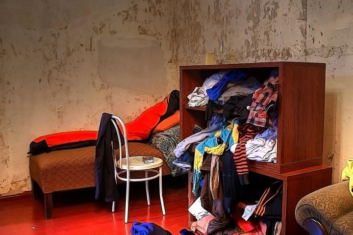 Unordentliches Zimmer